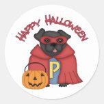 Barro amasado estupendo negro del feliz Halloween Pegatina Redonda
