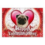 Barro amasado feliz del día de San Valentín Tarjeta