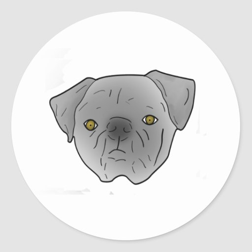 barro amasado gris etiqueta redonda