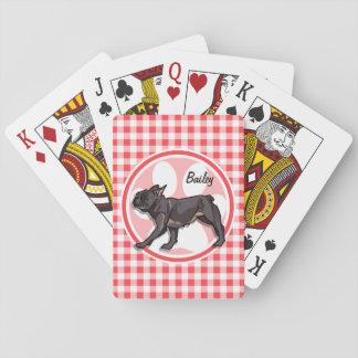 Barro amasado; Guinga roja y blanca Cartas De Póquer