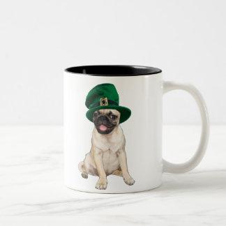 Barro amasado irlandés taza dos tonos