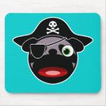 Barro amasado Mousepad del pirata Tapetes De Ratón