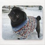 Barro amasado Mousepad del suéter Nevado Alfombrillas De Ratón