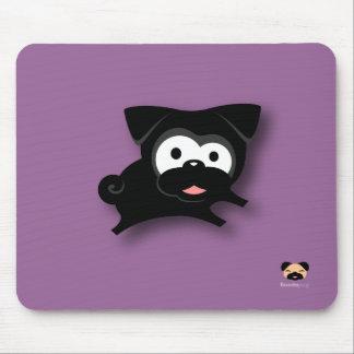 Barro amasado negro Mousepad (púrpura) Tapete De Raton