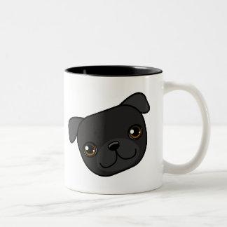 Barro amasado negro tazas de café