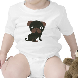 Barro amasado negro trajes de bebé