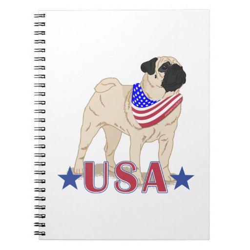 Barro amasado patriótico de los E.E.U.U. Cuadernos