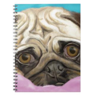 Barro amasado pintado Digital con los ojos tristes Libro De Apuntes