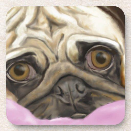 Barro amasado pintado Digital con los ojos tristes Posavaso