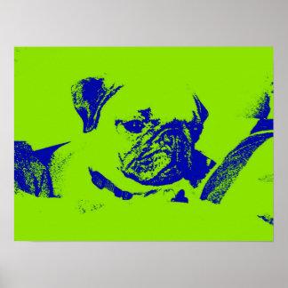 Barro amasado Poster-Verde
