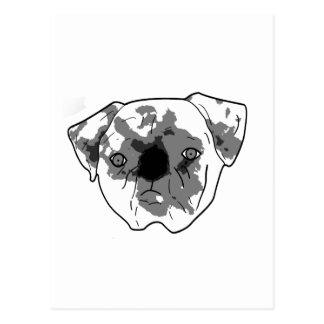 Barro amasado posterized blanco y negro postal