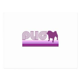 Barro amasado retro del arco iris en púrpura tarjeta postal