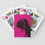 Barro amasado rosado baraja de cartas