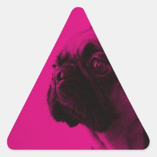 Barro amasado rosado calcomanía de triangulo