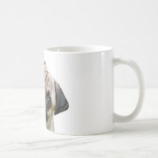 barro amasado taza básica blanca