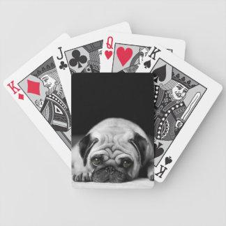 Barro amasado triste barajas de cartas