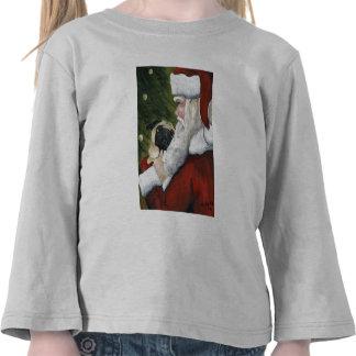 Barro amasado y camisa del arte del perro de Santa