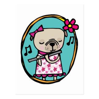 Barro amasado y flauta tarjeta postal