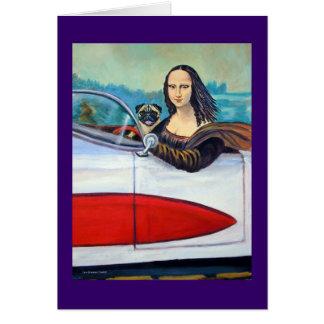 Barro amasado y Mona Lisa en tarjetas del Corvette