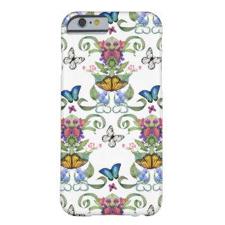 Barroco de la mariposa funda para iPhone 6 barely there