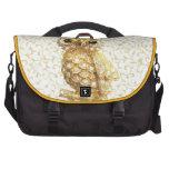 Barroco de oro del búho real bolsas para ordenador