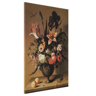 Barroco del vintage, aún flores florales de la impresiones en lienzo estiradas