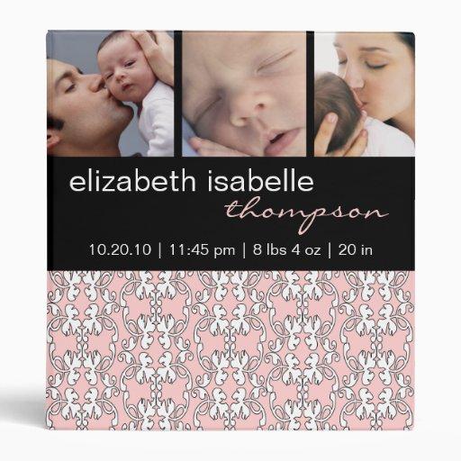 Barroco en carpeta rosada de la foto del bebé
