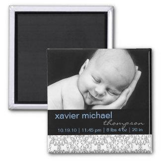 Barroco en el imán blanco de la foto del bebé