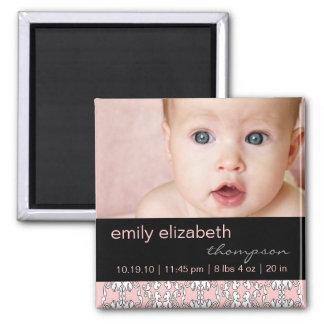 Barroco en imán rosado de la foto del bebé