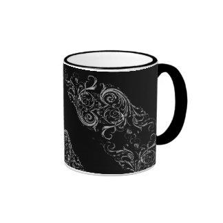 Barroco negro taza de dos colores