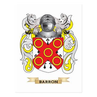 Barron Coat of Arms (Family Crest) Postcard
