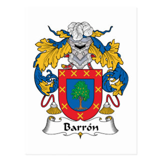 Barron Family Crest Postcards