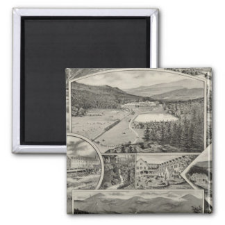 Barron & Merrill's White Mountain houses, NH 2 Inch Square Magnet