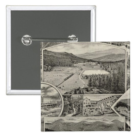 Barron & Merrill's White Mountain houses, NH Pinback Button