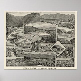 Barron & Merrill's White Mountain houses, NH Poster