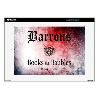 "Barrons Books and Baubles 15"" Laptop Mac & PC Skin Decal For 15"" Laptop"