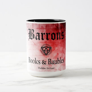 Barrons Books and Baubles Black/Red Mug
