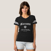 Barrons Books and Baubles Football Tee
