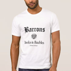 Barrons Books And Baubles Men's Tee at Zazzle