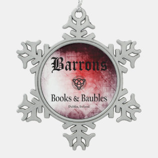 Barrons Books And Baubles Pewter Ornament at Zazzle