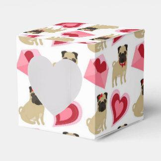 Barros amasados adorables de la tarjeta del día de caja para regalos