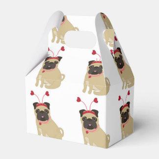 Barros amasados adorables de la tarjeta del día de cajas para detalles de boda