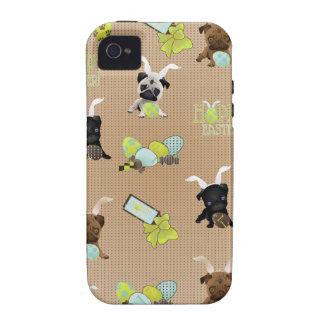 Barros amasados adorables de Pascua con los huevos Case-Mate iPhone 4 Fundas