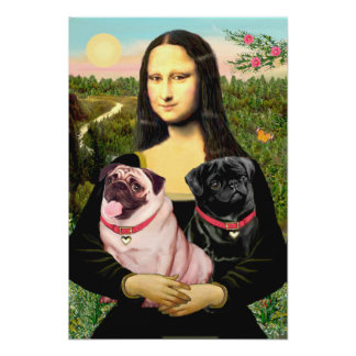 Barros amasados (cervatillo + Negro) - Mona Lisa Póster