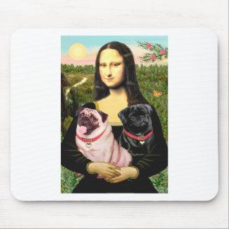 Barros amasados (cervatillo + Negro) - Mona Lisa Alfombrillas De Ratón