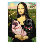 Barros amasados (cervatillo + Negro) - Mona Lisa Felicitación