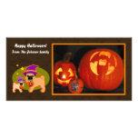 Barros amasados de Halloween Tarjeta Fotográfica