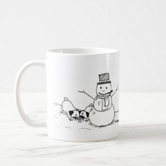 Barros amasados de la diversión del invierno tazas de café