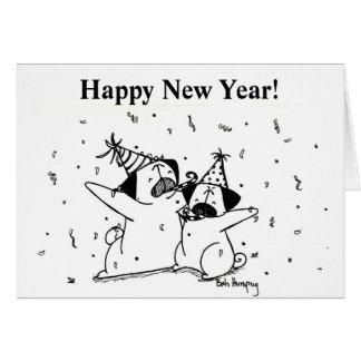 Barros amasados de la Feliz Año Nuevo Tarjeta De Felicitación