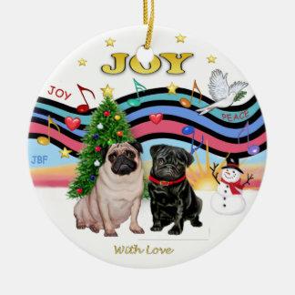 Barros amasados de la música 1 - dos de Navidad Ornamente De Reyes